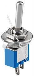Kippschalter Subminiatur, Blau - EIN-AUS, 2 Pins, blaues Gehäuse