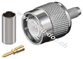 TNC-Crimpstecker - mit Gold-Pin für RG 58 Kabel