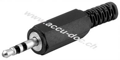 Klinkenstecker - 2,5 mm - stereo - Plastikausführung mit Knickschutz
