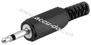 Klinkenstecker - 3,5 mm - mono, Klinke 3,5 mm Stecker (2-Pin, mono) - Plastikausführung mit Knickschutz