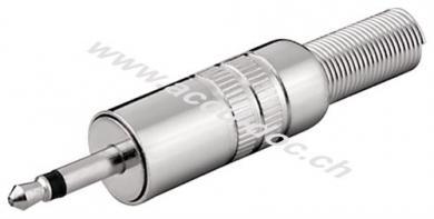 Klinkenstecker - 3,5 mm - mono - Metallausführung mit Knickschutz