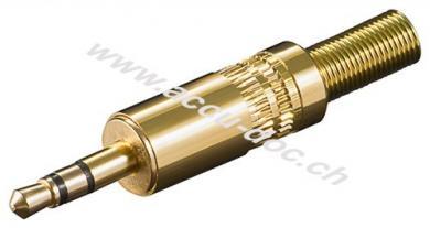 Klinkenstecker - 3,5 mm - stereo - vergoldet mit Knickschutz