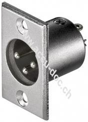 Mikrofon-Einbaustecker, 3 Pin, 3 Pin