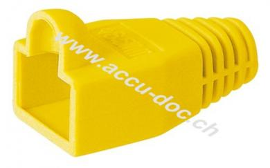 Tülle für RJ45 Stecker, Gelb-Orange - Kabeleinführung 6.40mm