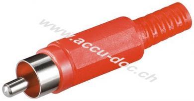 Cinch Stecker, Rot - Plastikausführung mit Knickschutz
