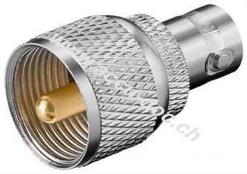 BNC-Kupplung > UHF-Stecker - mit Goldkontakten