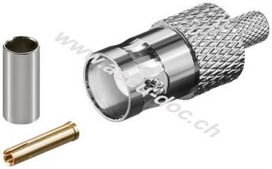 BNC-Crimpkupplung - für RG 58/U Kabel mit Gold-Pin