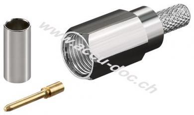 FME-Stecker Crimp für RG 58/U - mit Gold-Pin