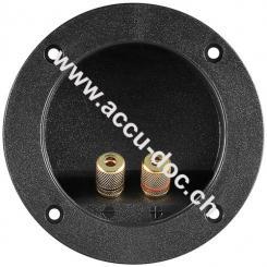 Lautsprecher Terminal - rot/schwarz, rund mit Farbring