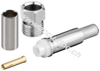 FME-Buchse Crimp für RG 58/U - mit Gold-Pin