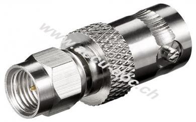 SMA-Stecker > BNC-Buchse - mit vergoldeten Kontakten für RG 174/U Kabel