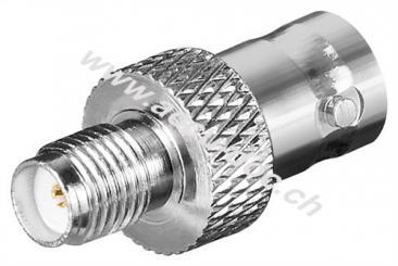 SMA-Buchse > BNC-Buchse - mit vergoldeten Kontakten für RG 174/U Kabel