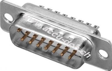 SUB-D standard Stiftleisten - 15-polig