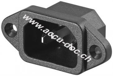 AC-Einbaustecker - Lötanschluss mit VDE