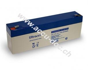 UL Bleiakku 12 V, 2,4 Ah (UL2.4-12) - Faston (4,8 mm) Bleiakku, VdS