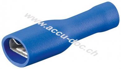 Flachsteckhülsen, Blau, Blau - Steckmaß: 6,4 mm x 0,8 mm, 15 A