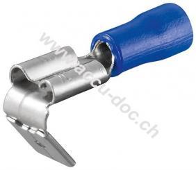 Steckerverteiler Flachstecker, Blau, Blau - Steckmaß: 6,4 mm x 0,8 mm, 15 A