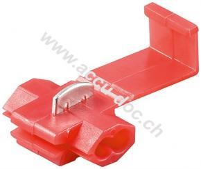 Schnellverbinder, Rot, Rot - für Kabelgröße: 1,5 mm - 2,5 mm², 10 A