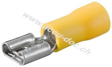 Flachsteckhülse, Gelb, Gelb - Steckmaß: 6,4 mm x 0,8 mm, 24 A