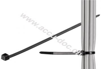 Kabelbinder, wetterfester Nylon, schwarz - 200 mm, 2,5 mm
