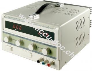 Labornetzgerät, Grau - regelbar von 0 A - 10 A und 0-30V DC, mit LED-Display