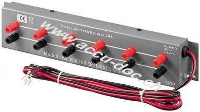 Labornetzgeräte-Verteilerleiste 6-fach, Grau, 2 m - Gesamtleistung max. 20 A