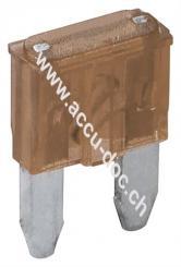 Kfz-Sicherungssortiment mini, 6 tlg., 7.5 A, Braun - 7,5 A, 16,7 x 11,2 x 3,81 mm