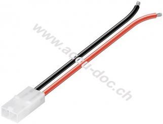 Tamiya Batterie-Anschlusskabel, Tamiya-Buchse, Schwarz-Rot, 0.14 m - Tamiya-Buchse, 0,14 m, 1,5 mm²
