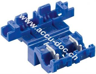 Sicherungshalter für Kfz-Flachsicherung, Blau - mit Schneid-Klemmtechnik, max. 20 A