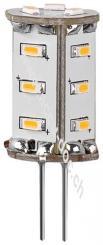 LED Kompaktlampe, 1,3 W, kalt-weiß - Sockel G4, ersetzt 13 W, kalt-weiß, nicht dimmbar
