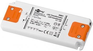 LED Konstantstrom-Trafo 500 mA / 12 W, 12 W - 500 mA CC für LEDs bis 12 W Gesamtlast
