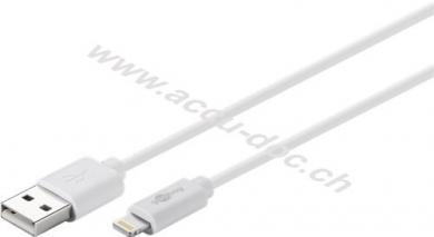 Lightning USB Lade- und Synchronisationskabel, 3 m, Weiß - MFi Kabel für Apple iPhone/iPad Weiß