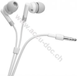 In-Ear Kopfhörer, Weiß, 1.15 m