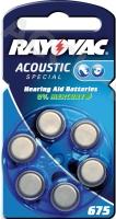 Acoustic Special PR44/675 - Zink-Luft Hörgeräte-Knopfzelle, 1,4 V