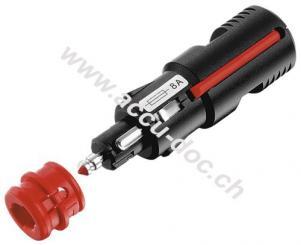 Sicherheits-Universalstecker mit geschraubter Zugentlastung, 8 A, Schwarz - Universalstecker für Zigarettenanzünder- und Kfz-Normsteckdosen