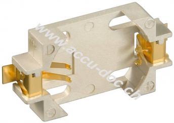 CR2012-2032 Knopfzellenhalter, 10 Stk. Polybeutel, Beige - max. 20 mm, Beige, Surface-Mount Device (SMD)