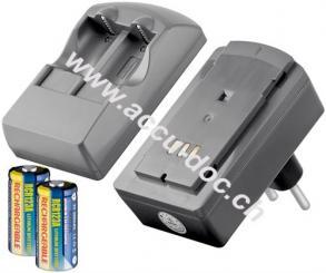 Fotobatterie-Steckerladegerät - geeignet für bis zu 2x CR123 Batterien/Akkus