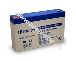 UL Bleiakku 6 V, 7 Ah (UL7-6) - Faston (4,8 mm) Bleiakku