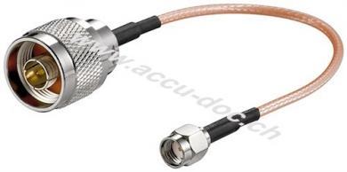 Antennenadapterkabel für WLAN-Router, SMA-Buchse, 0.15 m - SMA Reverse Buchse > N Stecker
