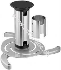 Basic Beamer Deckenhalterung (M), Silber - für kleine bis mittlere Projektoren, vollbeweglich (silber) bis max. 10kg