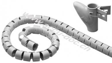 Kabelkanal, Grau - 2,5 m robuster Spiralschlauch gegen den Kabelsalat