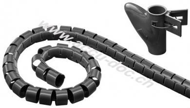 Kabelkanal, Schwarz - 2,5 m robuster Spiralschlauch gegen den Kabelsalat