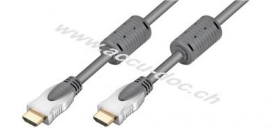 High Speed HDMI™ Kabel, 0.75 m, Grau - HDMI™-Stecker (Typ A), HDMI™-Stecker (Typ A)