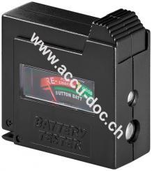 Batterietester, Schwarz - für Standardzellen und alle gängigen Knopfzellen