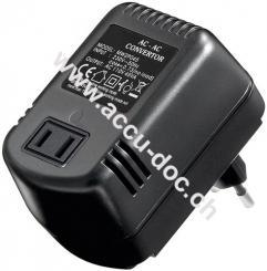 Spannungswandler AC/AC 45 W, Schwarz - wandelt 220 V - 240 V AC in 110 V - 120 V AC um