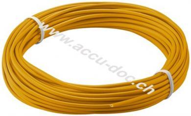 Kupferlitze isoliert, Orange, 10 m - 1-adrig, mehrdrahtig (18 x 0,1 mm)