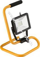 LED Außen-Flutlichtstrahler mit Standfuß, 20 W, 20 W, Schwarz-Gelb, 1.4 m - Arbeitsleuchte mit großflächiger Ausleuchtung
