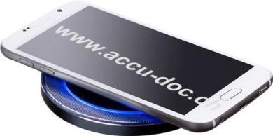 Wireless Qi-Charger, Schwarz-Grau - für Smartphones und Geräte mit Qi-Standard