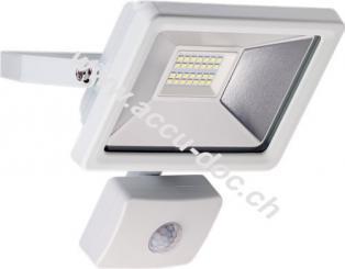 LED Außen-Flutlichtstrahler mit Bewegungsmelder, 20 W, Weiß - Lichtlösung für Hauseingänge, Zugangswege, Garten & Co.