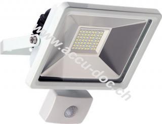 LED Außen-Flutlichtstrahler mit Bewegungsmelder, 30 W, Weiß - Lichtlösung für Hauseingänge, Zugangswege, Garten & Co.